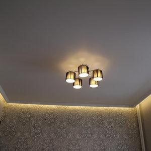 гостиная сатин с подсветкой