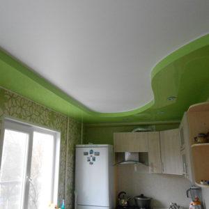 кухня двухуровневый глянец