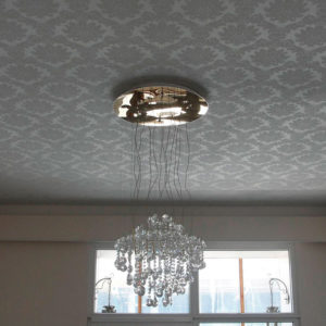 спальня тканевый потолок
